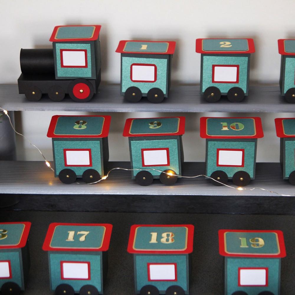 DIY Advent calendar kit Train - green