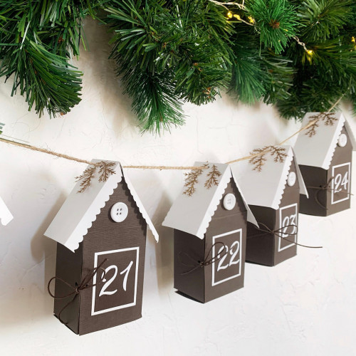 DIY Advent calendar kit - silver red