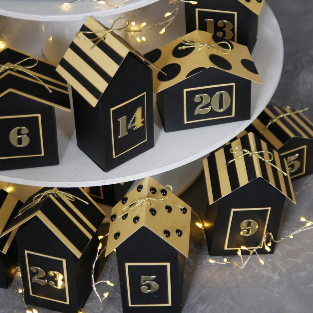DIY Advent calendar kit Christmas village