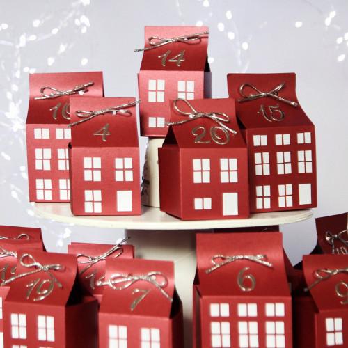 DIY Advent calendar kit - red