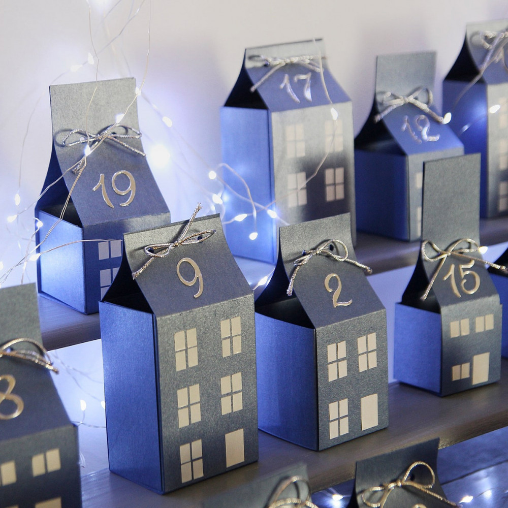 DIY Advent calendar kit - blue