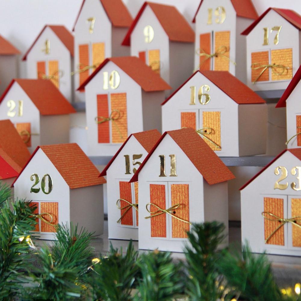 DIY Advent calendar kit - town