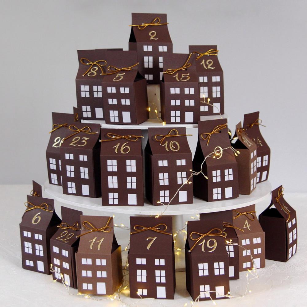 DIY Advent calendar kit - brown