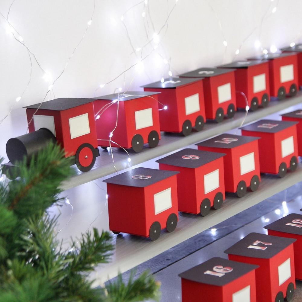 DIY Advent calendar kit - train