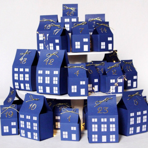 DIY Advent calendar kit - indigo