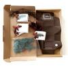 DIY Advent calendar kit garland - brown