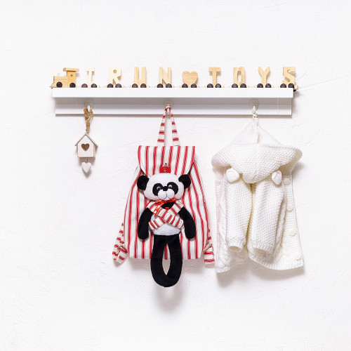 Backpack with a toy Striped (collection 1)
