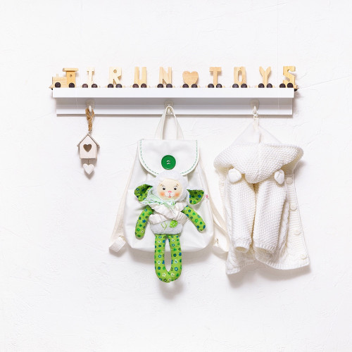 Backpack with a toy White (collection 3)