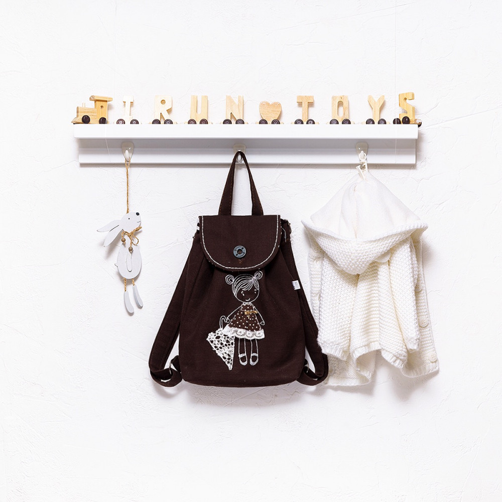 Backpack with embroidery Little lady (collection 1)