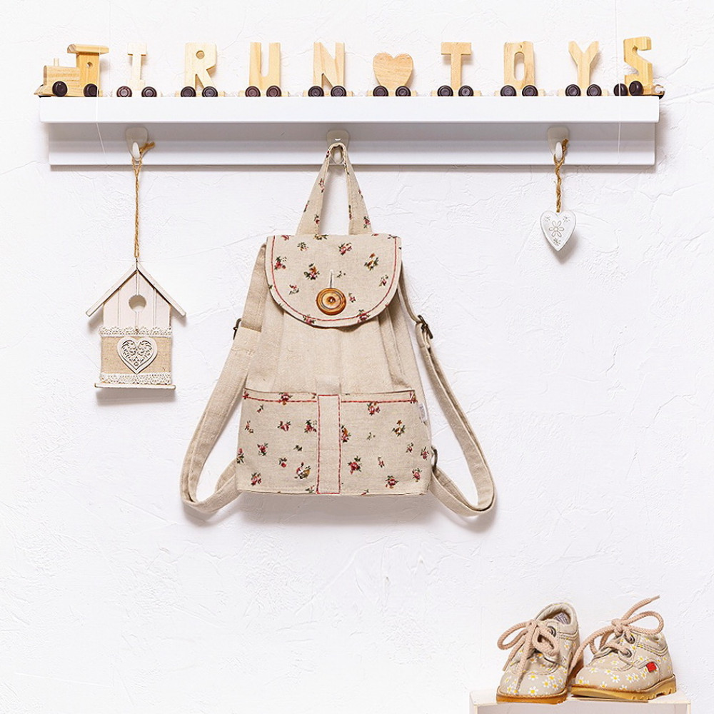 Linen backpack small