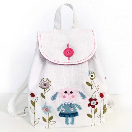 Girls Backpack sewing kit Bunny