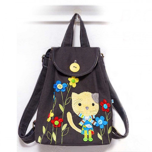 Toddler Backpack sewing kit Kitty