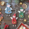 Christmas tree decoration, wooden ornaments - Christmas angels - Style 3