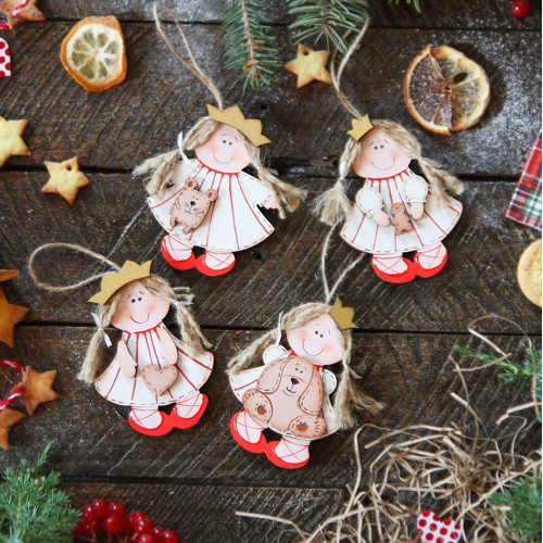 Christmas wooden decor christmas tree decoration Princess