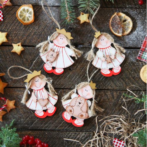 Christmas wooden decor christmas tree decoration Princess