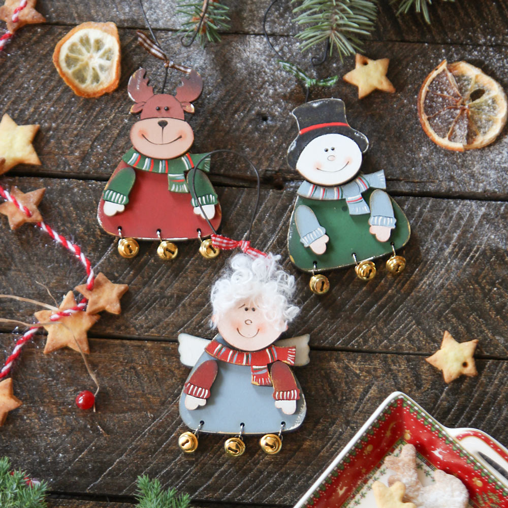 Christmas wooden ornaments - Winter Fairy Tale