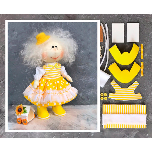 Doll making kit - Yellow (collection 1)