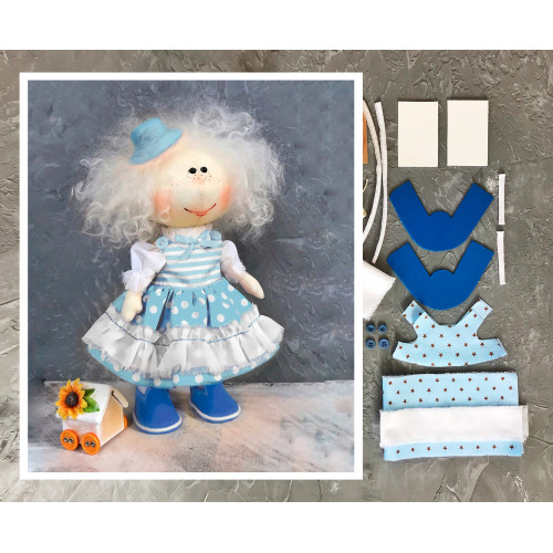 Doll making kit - Blue (collection 1)