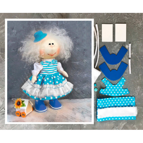 Doll making kit - Turquoise (collection 1)