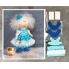 Doll making kit - Blue (collection 1) - Style 4