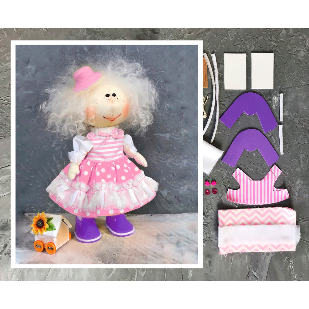 Doll making kit - Pink (collection 1)