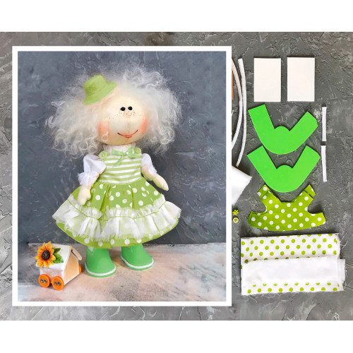 Doll making kit - Green (collection 1)