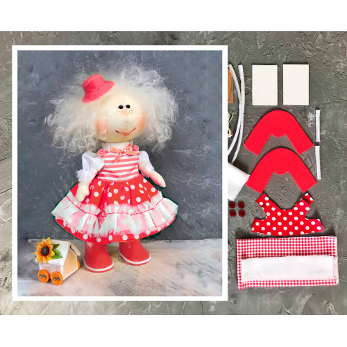 Doll making kit - Red (collection 1)