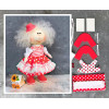 Doll making kit - Red (collection 1) - Style 4