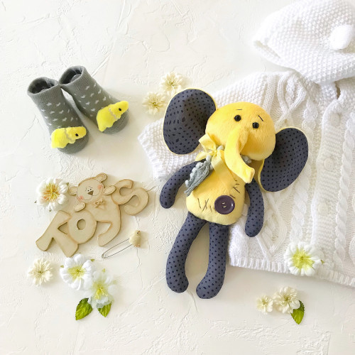 Elephant toy for sleep, baby shower gifts IrunToys