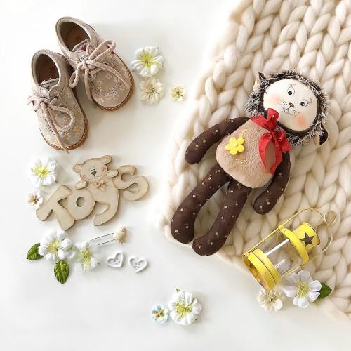 handmade baby comforter Hedgehog