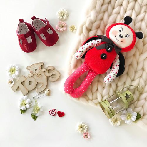 handmade sleeping toy Ladybug