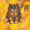 Cat oil painting Kids bedroom painting - Style 2