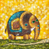 Oil Painting Elephant Lucky - Style 1