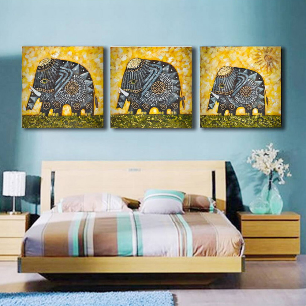 Handmade Elephant oil painting