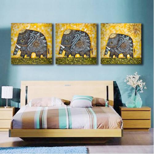 Handmade Elephant oil painting