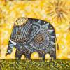 Handmade Elephant oil painting - Style 3