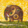 Elephant oil painting - Style 1