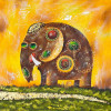 Elephant oil painting - Style 2