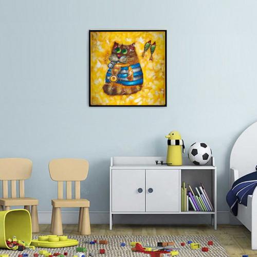 Cat Sailor oil painting Kids bedroom painting