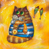 Cat Sailor oil painting Kids bedroom painting - Style 2