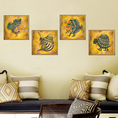 Turtle, Fish, Snail oil Painting on canvas