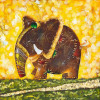 Oil Painting Elephant Rainbow - Style 1