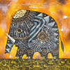 Elephants oil painting - Style 1