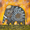 Elephants oil painting - Style 2