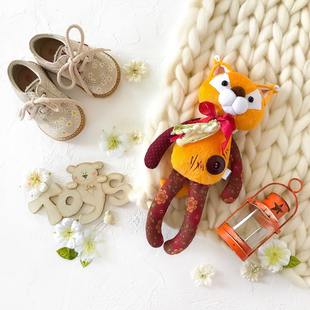 handmade soft toy for sleeping squirrel