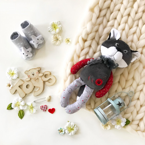 handmade sleeping toy Wolf